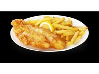 Part time staff in fish and chip shop, Farnborough Village, Orpington, Kent