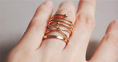 New design women finger ring Gold filled jewel 6 pcs/set Knuckle Rings wholesale