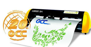 "GCC Expert 24"" Vinyl cutter plotter + Flexistarter v12 MAC/PC"