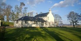 Four bed traditional farmhouse within commuting distance of both Edinburgh & Glasgow