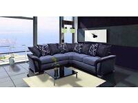 Corner sofa new fabric grey