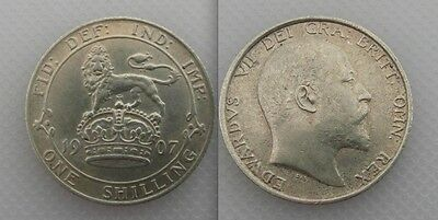 Collectable 1907 King Edward VII Silver One Shilling