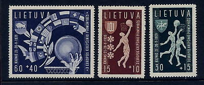 LITHUANIA 1939 BASKETBALL SET 3 MINT NO HINGE