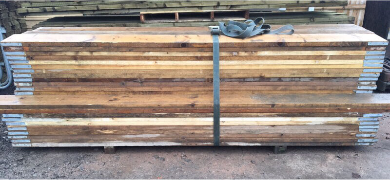Used Scaffold Boards Banded Graded 3m Vgc In Lymm