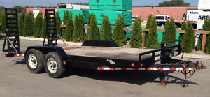 18ft Utility Trailer Float with 2x7000lb Axels for 14000lbs