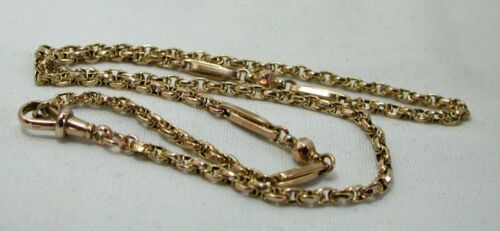Antique Lovely 8 carat Gold Albert Neck Chain
