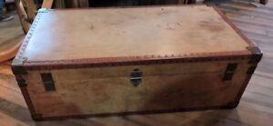 Wooden Trunk featuring Labels