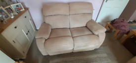 2 Seater reclining settee.