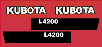 Kubota L4200 Tractor Vinyl Decal Stickers Pair