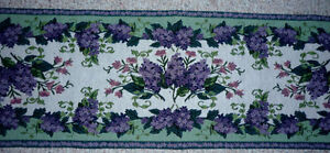 Lavender and Sage Brocade Table Runner : Like NEW : Perfect