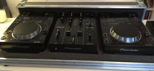 CDJ-350 pair for sale with DJM-350 mixer