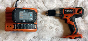 RIDGID 18V Cordless Drill and Battery