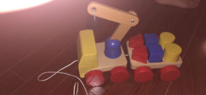 Wooden /Magnetic Shape Blocks Pull Truck
