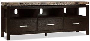Brand new (still in box) 60 inch Faux Marble top TV Stand