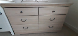 6 drawer chest of drawers solid wood cream
