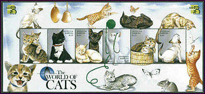 Antigua, Sc #2276, MNH, 1999, Cats, white kittens,  Butterfly, insects, HID-I