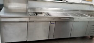 12 feet Commercial refrigerator with cabinets for sale!!!