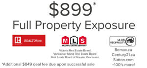 $899 upfront for Access to  MLS® for your property