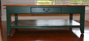 ETHAN ALLEN MAPLE AND PAINT COFFEE TABLE