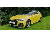 2019 '69' AUDI A1 TFSi 30 S-LINE WITH PLUS PACK IN PYTHON YELLOW.