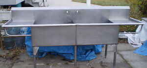 2 Compartment Commercial Sink