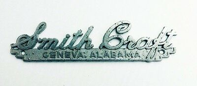 1950s - 1960s SMITH CRAFT BOAT NAME PLATE, MANUFACTURER TAG, VINTAGE, GENEVA, AL