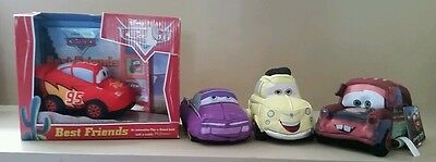 Disney's pixar Cars Best Friends plush toy & book & 3 xtra plush cars