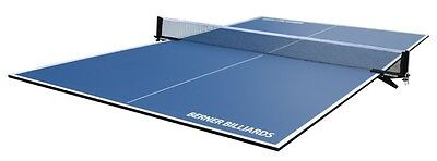 PING PONG / TABLE TENNIS POOL TABLE CONVERSION TOP IN BLUE b