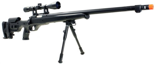 WELL SR-MB12D High Powered Bolt Action Black Sniper Rifle Airsoft *REFURBISHED*