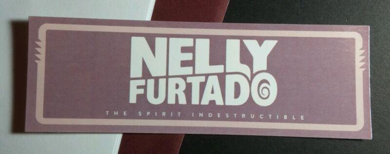 NELLY FURTADO THE SPIRIT INDESTRUCTIBLE PURPLE PINK MUSIC STICKER