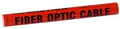 8 Long Wrap Black On Orange Around Label Text Fiber Optic Cable