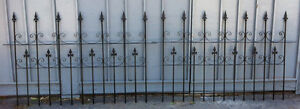 "Victorian Solid Iron Fence avail 64""W x 40 """