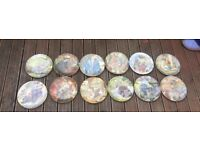 12 wind in the willows wedge wood plates
