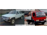WANTED: Nissan Cabstar OR Toyota Hilux (PRE-2000 REG ONLY), Quick Cash Quick Sale