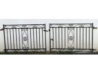 Double gates for driveway - iron - black