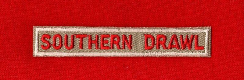 SOUTHERN DRAWL Boy Cub Scout Uniform Spoof Interpreter Strip Patch