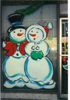 PAINTED, PAINTING, PAINT WINDOWS. HOLIDAYS SCENES, CHRISTMAS
