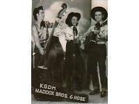 Slap Double Bass & Pedal/Lap Steel (1940s/50s) Retro Cowboys wanted