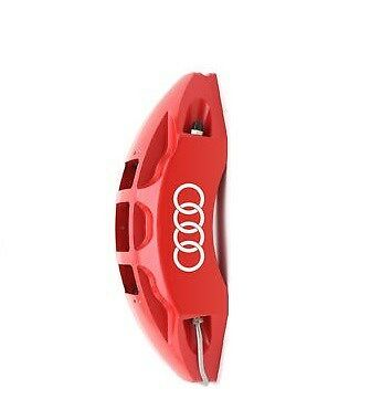 Audi Rings Logo Brake Caliper High Temp. Vinyl Decal Sticker (Any Color) 6 X