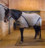 "76"" Shedrow Tradional plaid stable blanket ""BRAND NEW"""