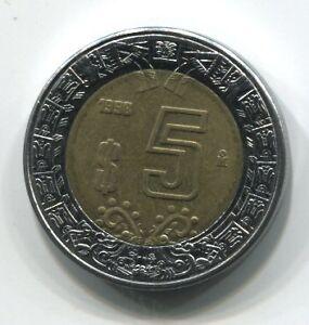 MONNAIE-5-DOLLARD-1998-MEXIQUE-COIN