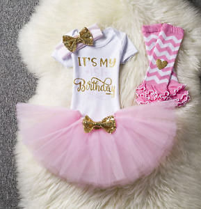 Girls 1st first birthday outfit