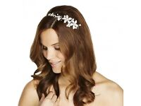 Tiara Bride/Bridesmaid Jon Richard Pearl and Crystal Embellished Flower (5 available)