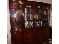 Handsome reproduction Regency bookcase