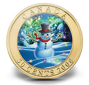 Monnaie MRC Bonhomme de neige 50 cents 2008