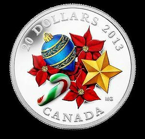 2013 Silver Coin - Holiday Season with Venetian Glass Candy Cane