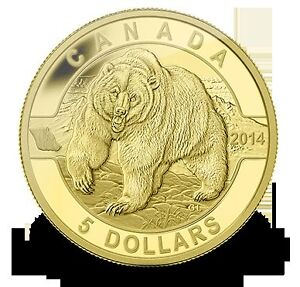 GOLD piece en or  monnaie royAle canadienne