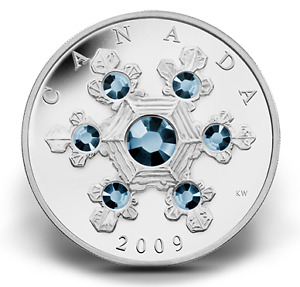 Blue Crystal Snowflake - Fine Silver Coin by the Royal Can. Mint