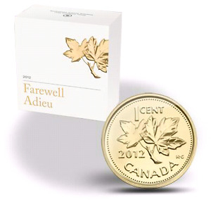"""2012  """"THE PENNY""""  GOLD COIN - CANADA"""