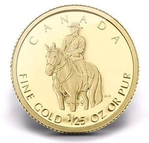 2010 ROYAL CANADIAN MOUNTED POLICE GOLD COIN - CANADA